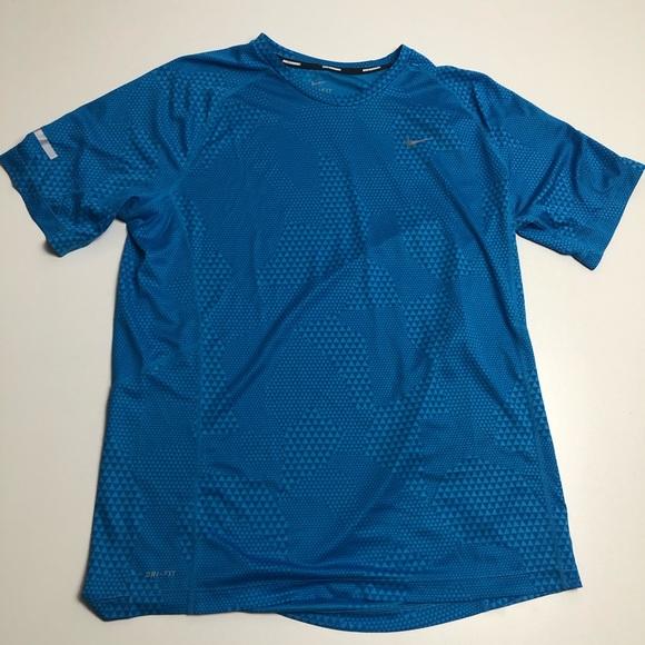 Nike Running Blue Dri Fit T-shirt Mens Large